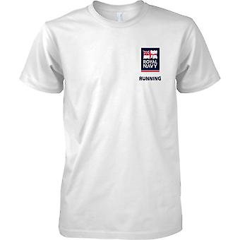 RN in esecuzione Logo 2 - Royal Navy sport t-shirt colore
