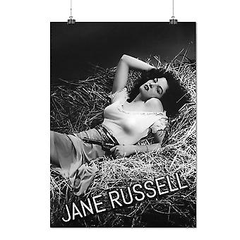 Matte or Glossy Poster with Jane Russell Celebrity Famous Person | Wellcoda | *q1454