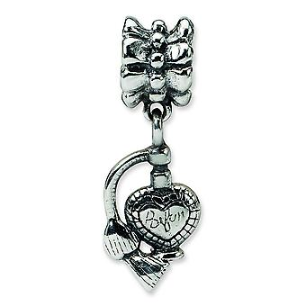 Sterling Silver Reflections Purfume Atomizer Dangle Bead Charm