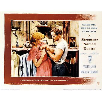 A Streetcar Named Desire Vivien Leigh Marlon Brando 1951 Movie Poster Masterprint