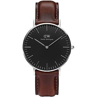 Montre Daniel Wellington Bristol DW00100143 - Montre Marron Cuir Poli Mixte