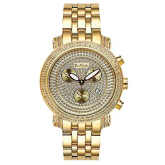 Joe Rodeo diamond men's watch - CLASSIC gold 1.75 ctw