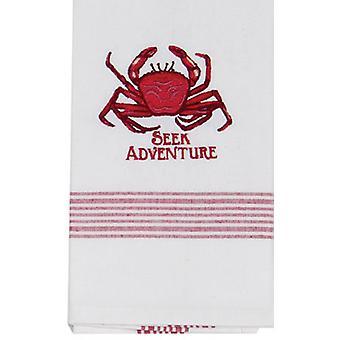 Krabbe suchen Abenteuer Küste 28 Zoll bestickt Küche Geschirrtuch Baumwolle Kay Dee