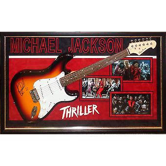 Michael Jackson Thriller Signed Guitar Custom Framed Autographed with COA