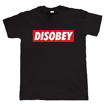 Vectorbomb, Disobey, Mens T-Shirt (S to 5XL)