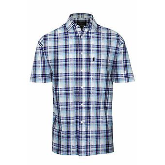 Mens Champion Country Style Casual Check chemise à manches courtes 100 % coton 3042