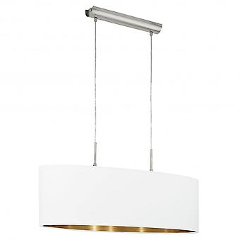 Eglo Pasteri 2 Light Pendant Matt White