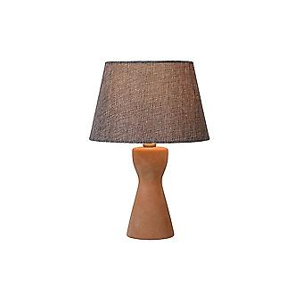 Lucide TURA Table Lamp E14 H32cm Ø20.5cm Taupe