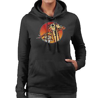 Street Pals Street Fighter Calvin And Hobbes Women's Hooded Sweatshirt