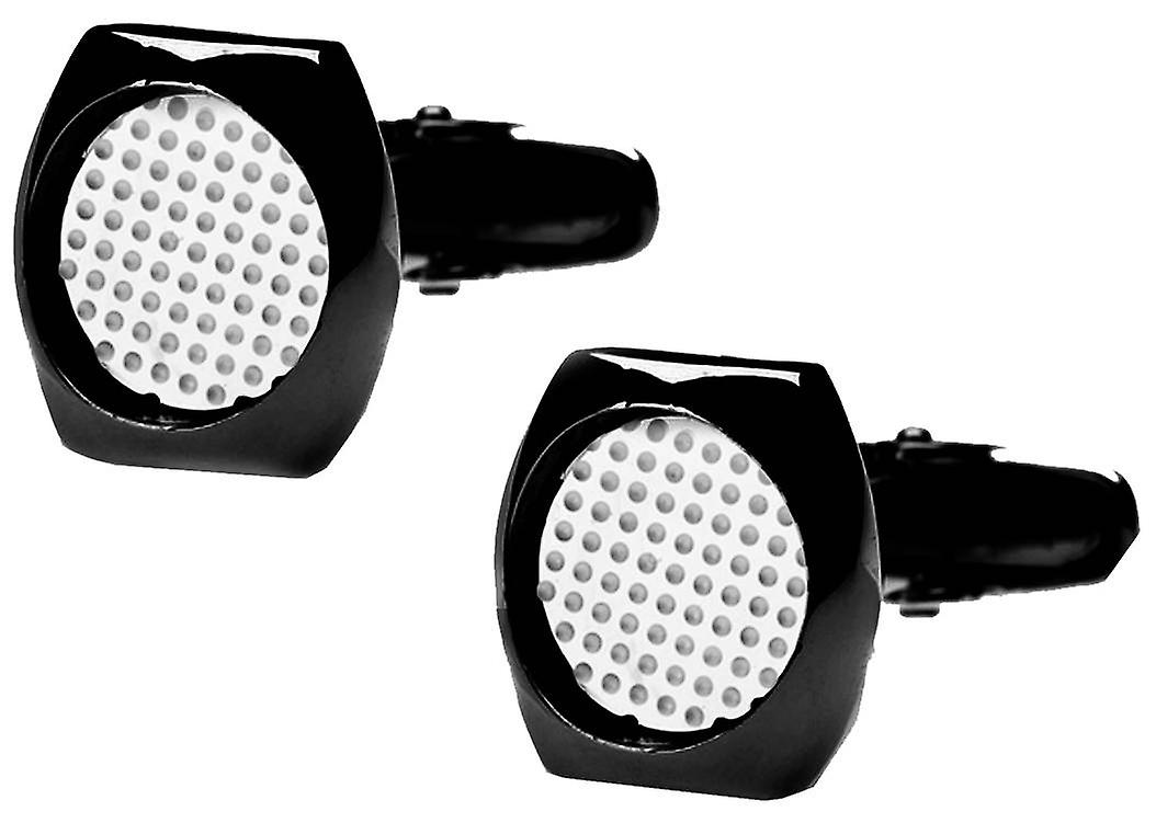 denisonboston Skimm Classic Superdot Cufflinks - Black