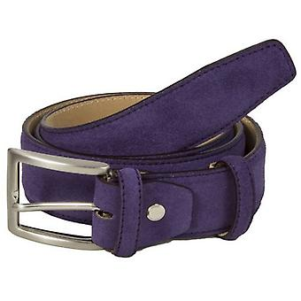40 Colori Trento Suede Leather Belt - Purple
