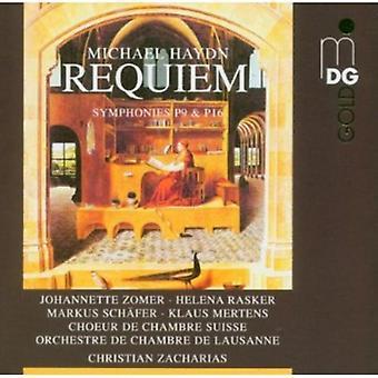 M. Haydn - Michael Haydn: Requiem; Sinfonías P9 P16 y la importación de los E.e.u.u. [CD]