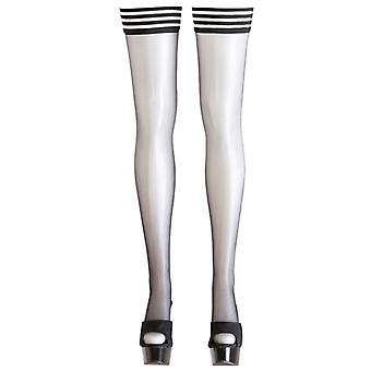 Stockings with striped border