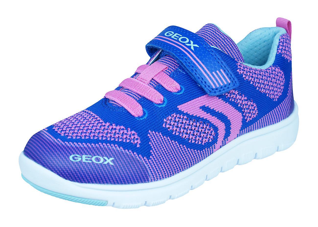 Geox J Xunday G.B. Girls Trainers   scarpe - blu and Fuchsia   Qualità primaria    Uomo/Donna Scarpa