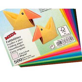 500 Sheets Square Origami Paper - 7.5cm | Origami Paper Packs