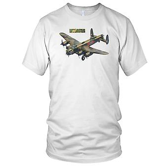 Lancaster Bomber WW2 Legendary Airplane Mens T Shirt
