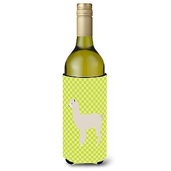 Alpaka grüne Weinflasche Beverge Isolator Hugger