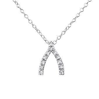 Wishbone - 925 Sterling sølv Jewelled halskæder - W19299X