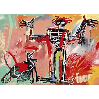 Boy and Dog in a Johnnypump 1982 Poster Print by Jean-Michel Basquiat (28 x 20)