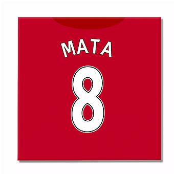 2016-2017 Man United Canvas Print (Mata 8)