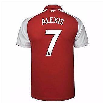 2017-18 Arsenal Home Shirt - Kids (Alexis 7)