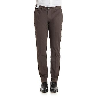 Re-hash men's P0377564BW0266 Brown cotton trousers