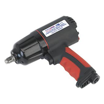 Sealey Gsa6000 Composite Air Impact Wrench 3/8Sq Drive Twin Hammer