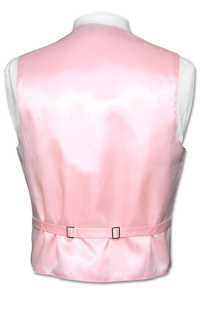 Men's Dress Vest NeckTie Horizontal Stripe Neck Tie Woven Design Set