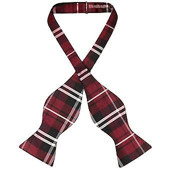Vesuvio Napoli SELF TIE BowTie PLAID Design Men's Bow Tie