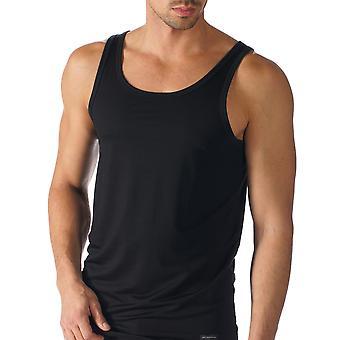 Mey 34200-123 Men's Network Black Solid Colour Tank Vest Top