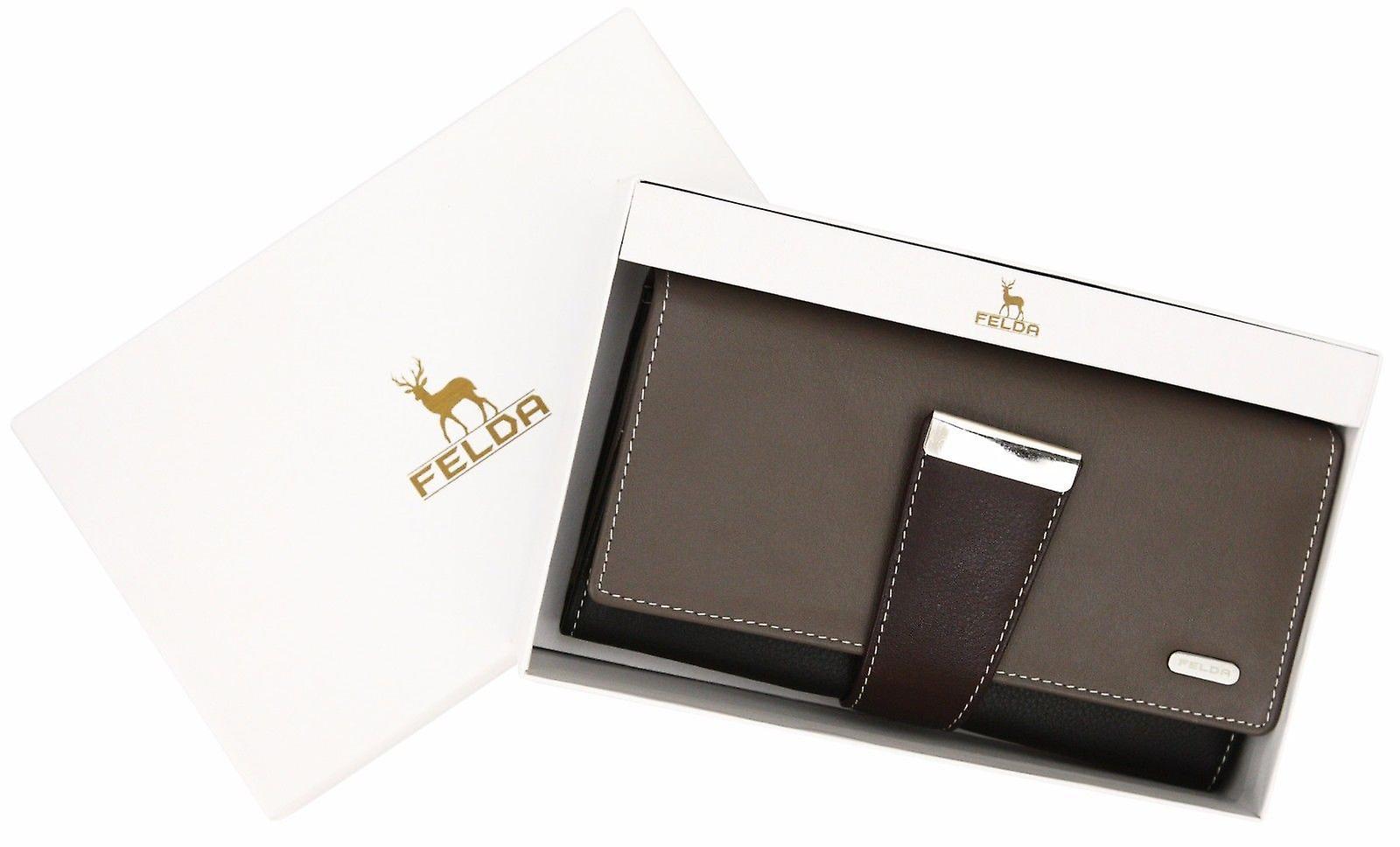 Felda RFID Ladies Leather Soft Wallet Large Capacity Purse Womens Multi 24 Card
