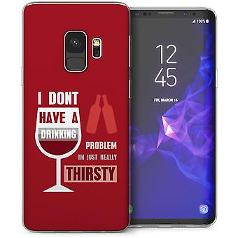 Samsung Galaxy S9 Drinking Problem Funny Quote TPU Gel Case – Red