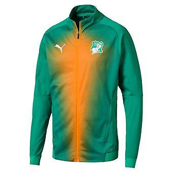 2018-2019 ساحل العاج من طراز بوما استاد سترة (الفلفل الأخضر)