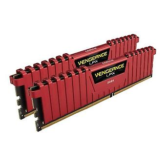 Corsair Vengeance LPX 8GB Kit (2 x 4GB), DDR4, 2400 MHz (PC4-19200), CL16 XMP 2.0, DIMM-Speicher, rot