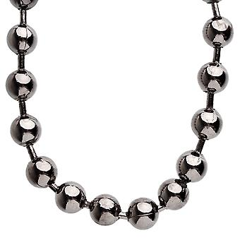 Iced out bling hip hop chain - BALL 12 mm black