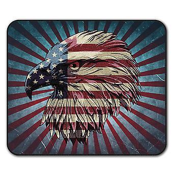 Bandera país American USA ratón antideslizante alfombra Pad 24 cm x 20 cm | Wellcoda