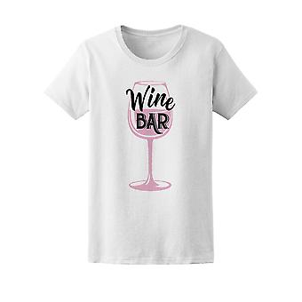 Wine Bar Wine Glass Tee Women's -Image by Shutterstock