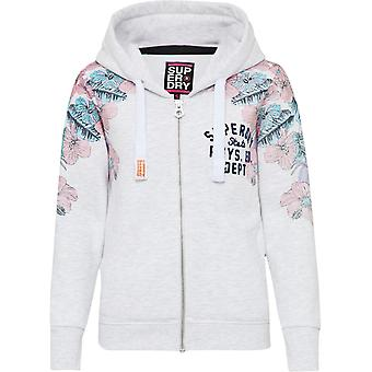 Superdry Women's Tropical Floral Entry Zip Front Sweat Hoodie