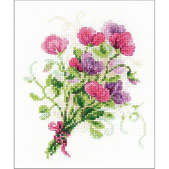 Bouquet With Sweet Peas Counted Cross Stitch Kit-6