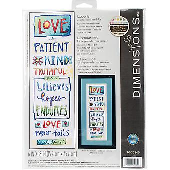 Love Is Counted Cross Stitch Kit-6