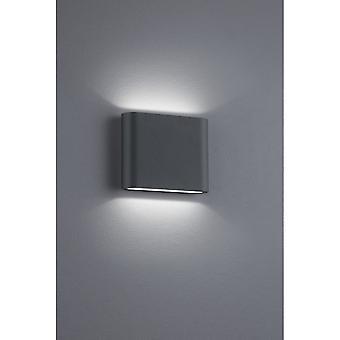 Trio Lighting Thames Ii Modern Anthracite Diecast Aluminium Wall Lamp