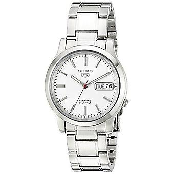 Seiko 5 Automatic Stainless Steel White Dial Men's Watch SNK789