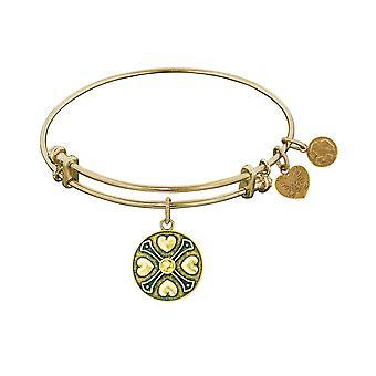 Finish Brass November  Birthstone Angelica Bangle Bracelet, 7.25