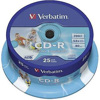 Blank CD-R 700 MB Verbatim 43439 25 pc(s)