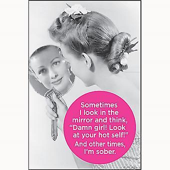 Иногда я смотрю в зеркало и киви. Смешные холодильник магнит