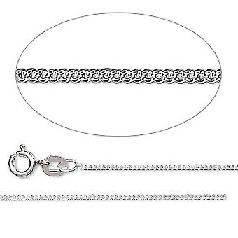 Collar de plata 925 de GEMSHINE. cadenilla de 1,1 mm en un diseño clásico con longitudes de 40 a 51 cm