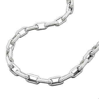 3, 4mm anchor chain with Chequer pattern Silver 925 chain 50 cm