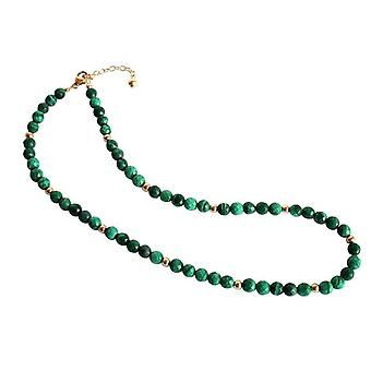 Malachite necklace Malachite necklace gold plated necklace gemstone necklace Karan
