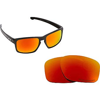 Best SEEK Replacement Lenses for Oakley SLIVER Fire Red Mirror