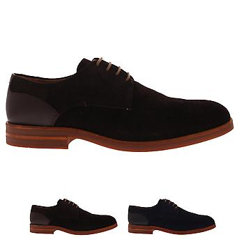 Mens H By Hudson Antrim Cow Suede Work Office Business Smart Derby Shoes